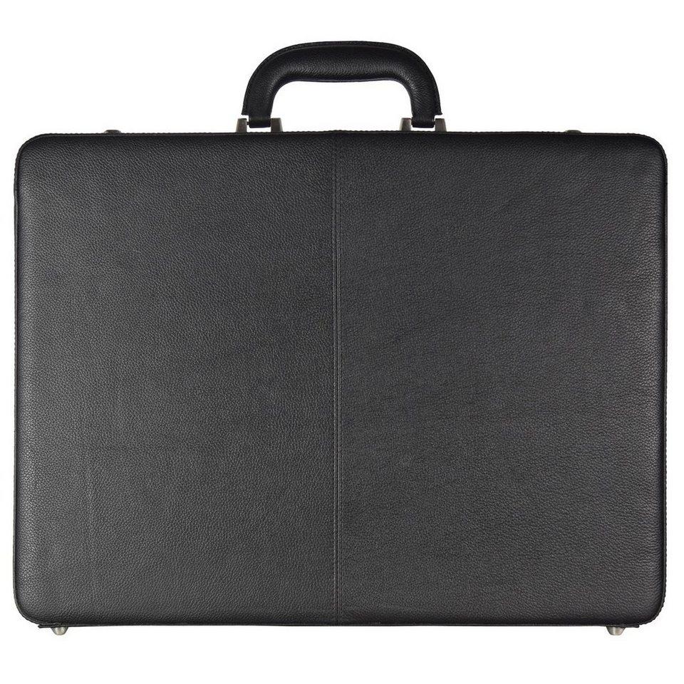 Leonhard Heyden Leonhard Heyden Hamburg Aktenkoffer Leder 44,5 cm Laptopfach in schwarz