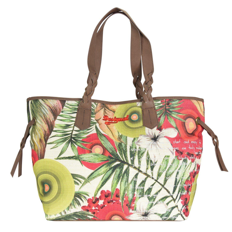 Desigual BOLS Shoptrend Hawaian Shopper Tasche 34 cm