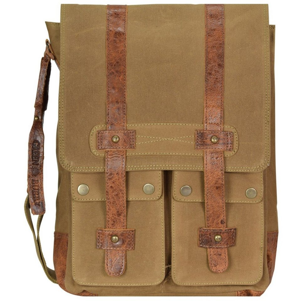 Greenburry Greenburry White Spirit Harley Umhängetasche 33 cm Tabletfach in olivbraun