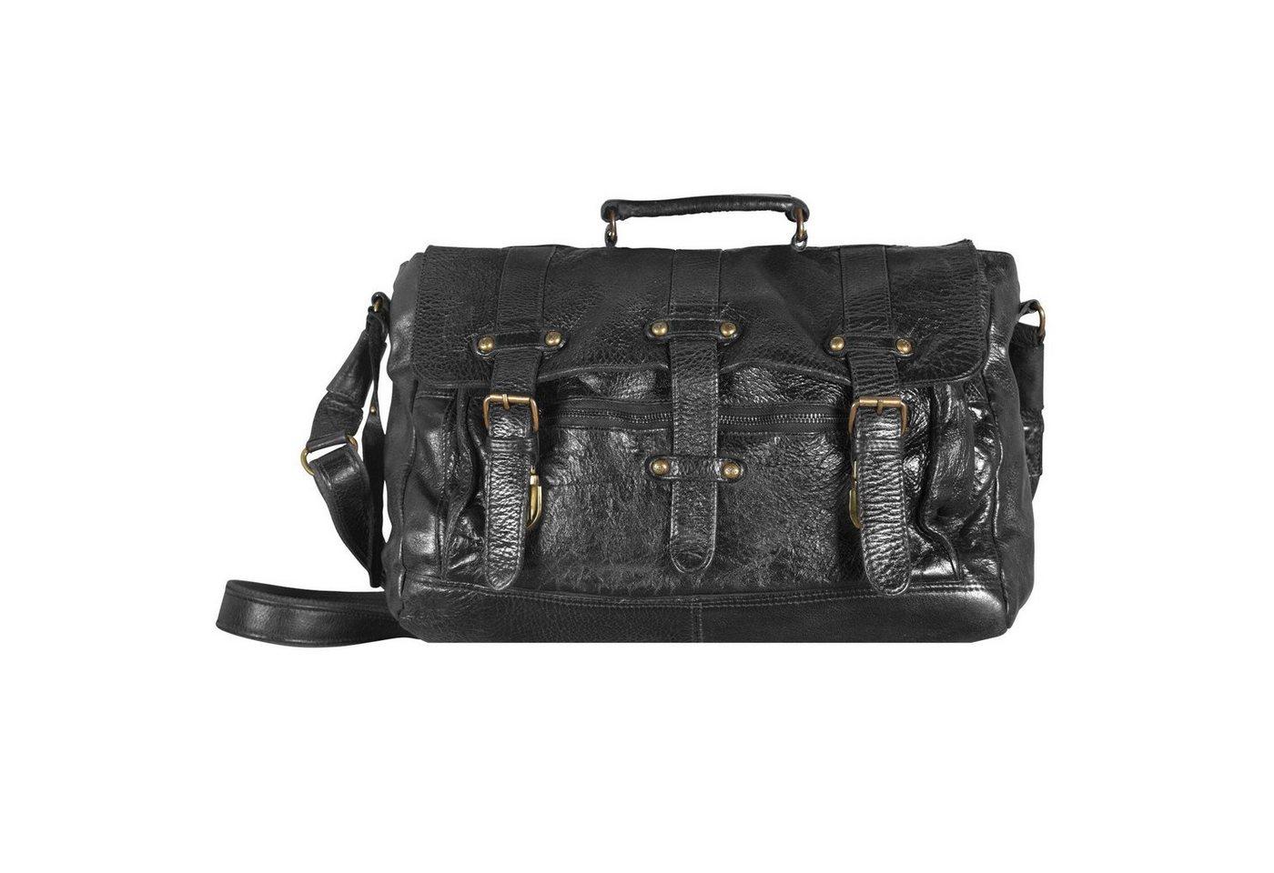 Billy The Kid Daytona Messenger Bag Leder 38 cm | Taschen > Business Taschen > Messenger Bags | Schwarz | Leder | Billy The Kid