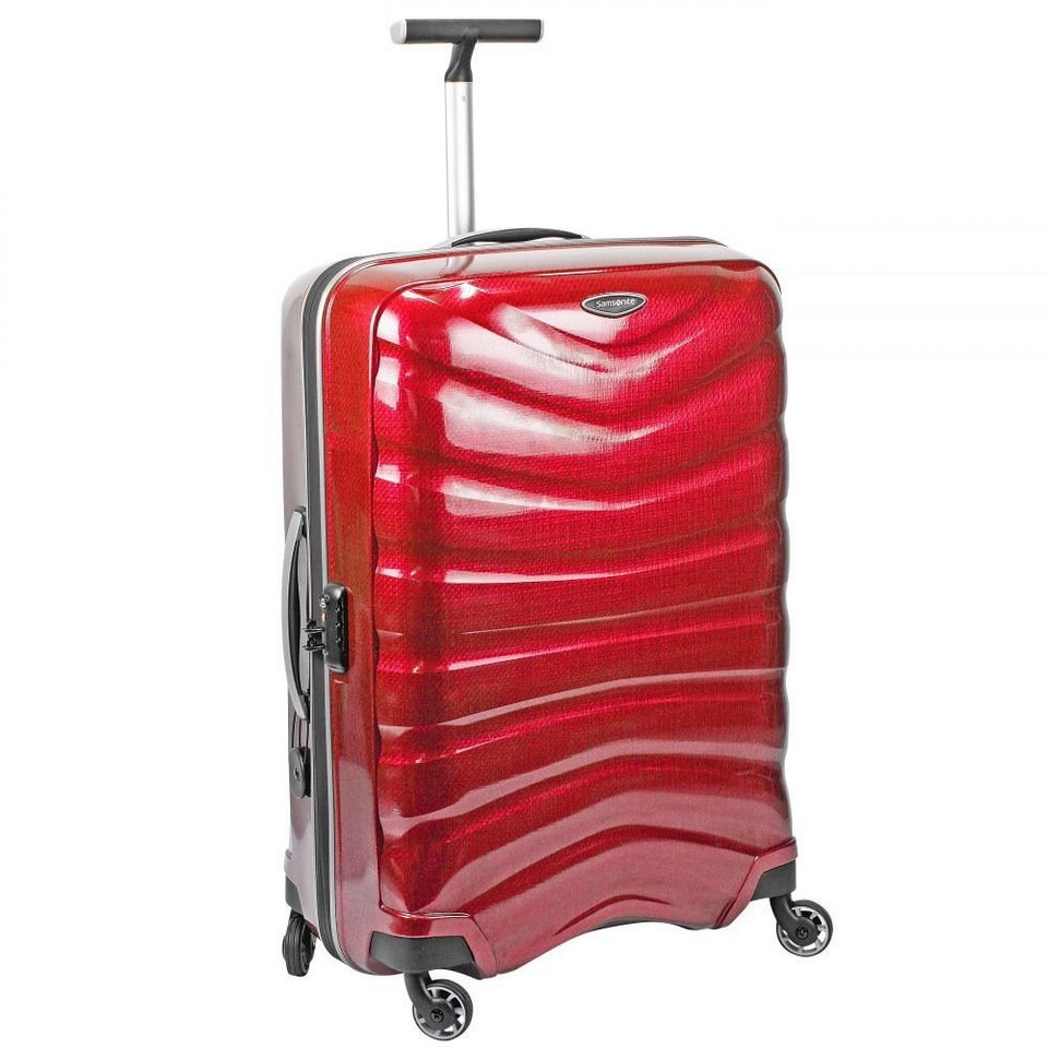 Samsonite Firelite Spinner 4-Rollen Trolley 69 cm in chili red