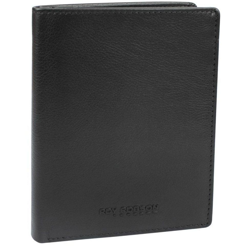 Roy Robson Roy Robson Drive Geldbörse Leder 9,5 cm in schwarz