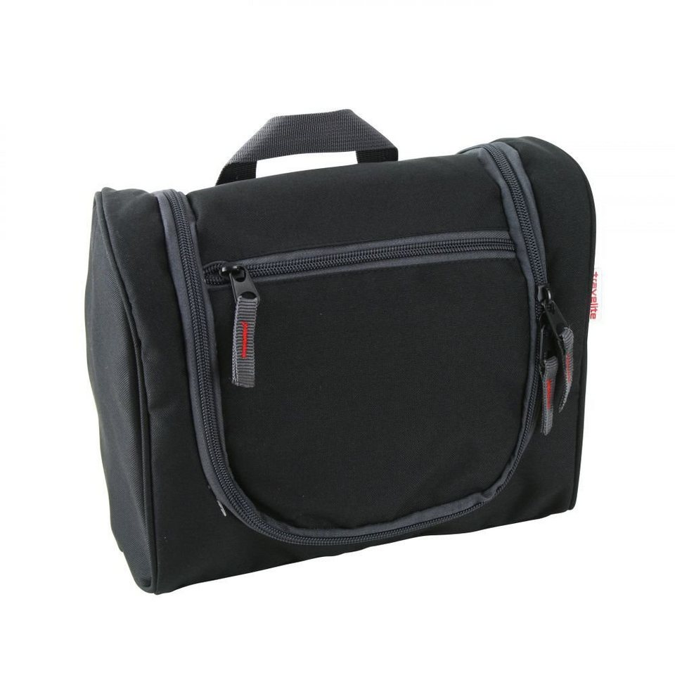 travelite Travel Kit Kulturtasche 26 cm in schwarz