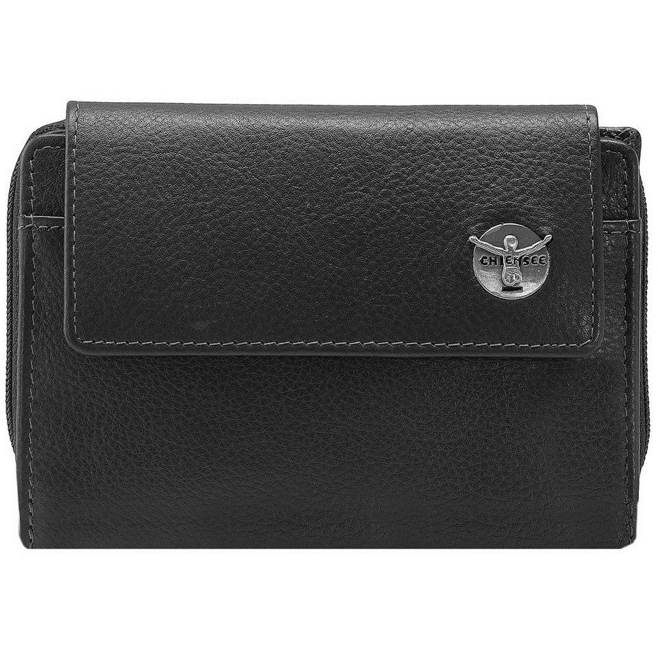 Chiemsee Classic Geldbörse Leder 9,7 cm in schwarz