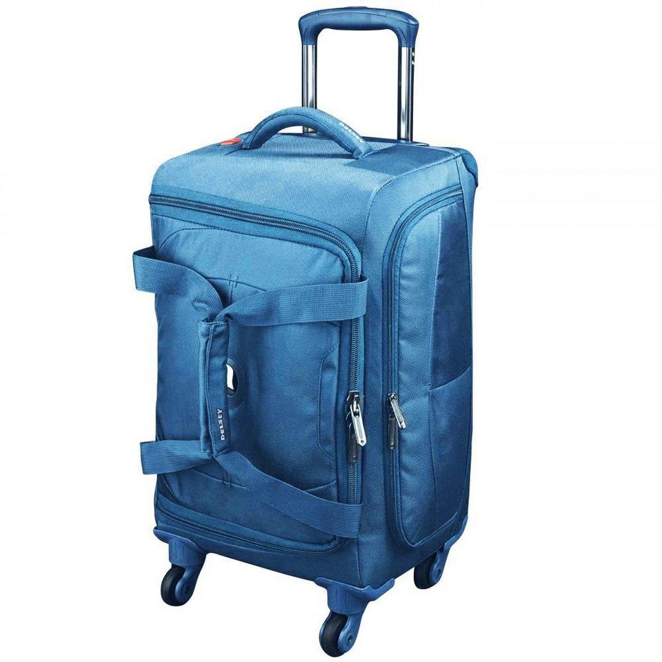 Delsey Delsey U-Lite 4-Rollen Kabinentrolley Rollen-Reisetasche 55 cm in blau