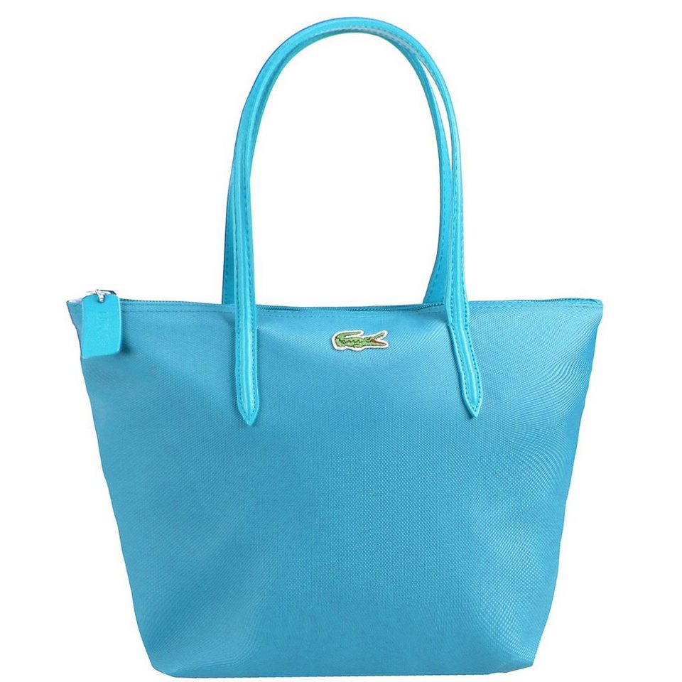 Lacoste L.12.12 Concept Shopper Tasche 24,5 cm in cyan blue