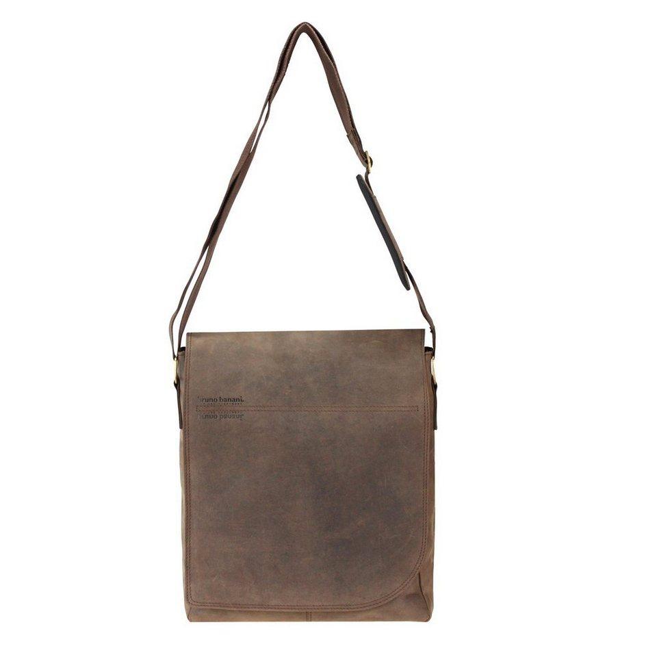 BRUNO BANANI Nova Umhängetasche Leder 31 cm Laptopfach in brown