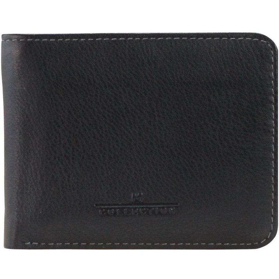 Maître M-Collection Mafia Geldbörse Leder 10 cm in schwarz