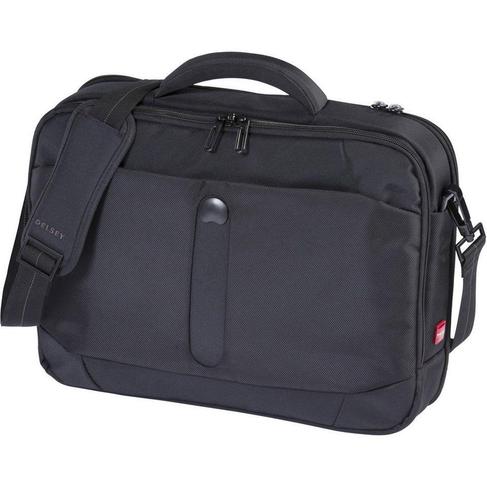 Delsey Bellecour Aktentasche 41 cm Laptopfach in schwarz