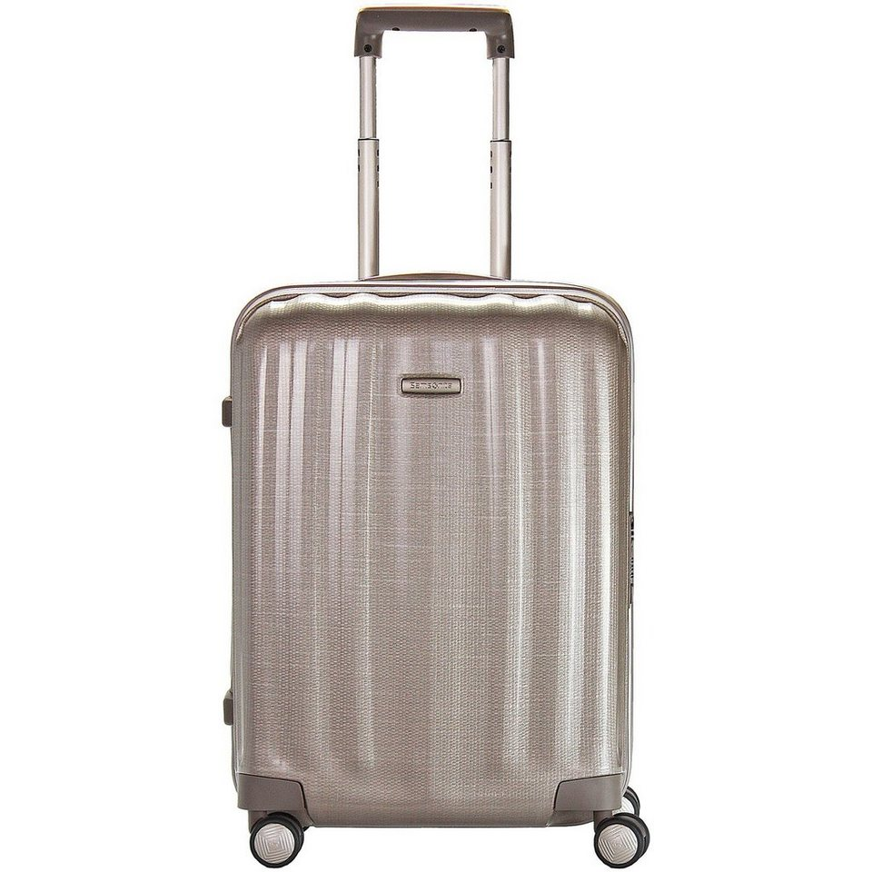 Samsonite Lite-Cube Spinner 4-Rollen Kabinentrolley 55 cm in Ivory-Goldcolored