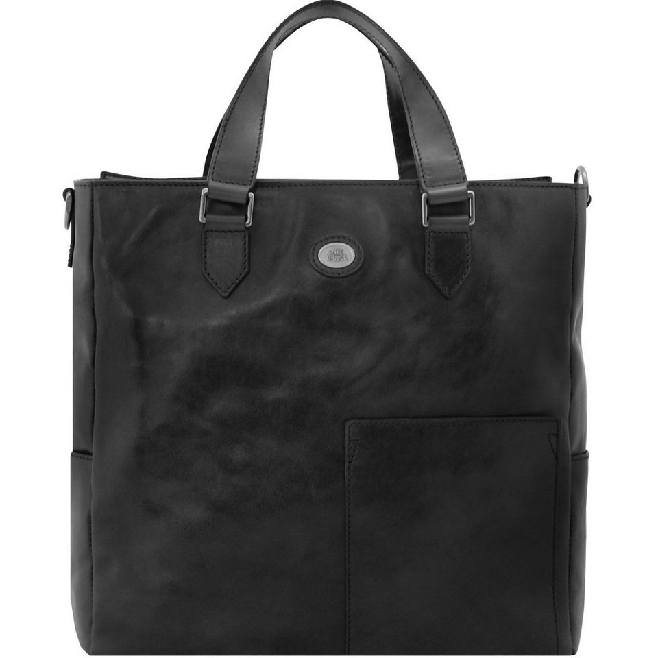 The Bridge Bureau Aktentasche Leder 37 cm Laptopfach in nero