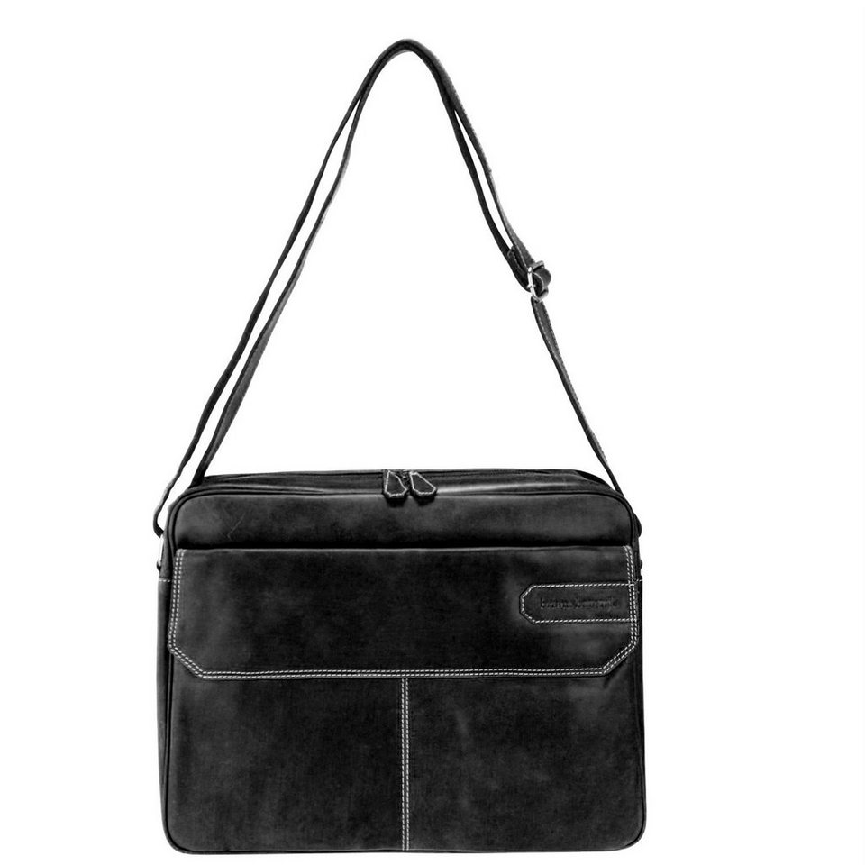 BRUNO BANANI Tough Messenger Leder 41 cm Laptopfach in black