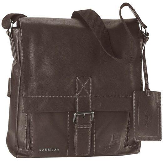 Sansibar Explorer Messenger Bag Leder 32 cm