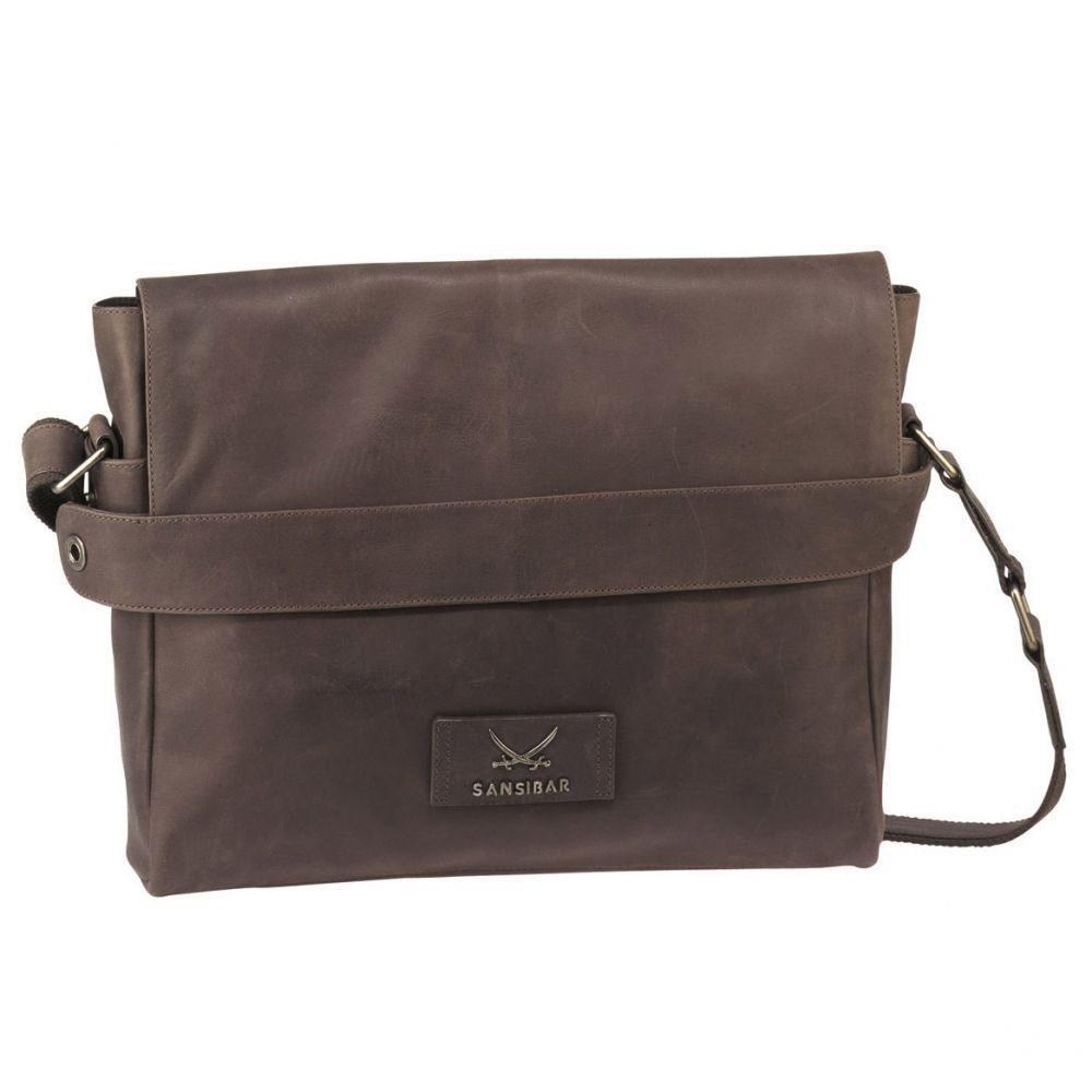 Sansibar Panama Messenger Bag Leder 39 cm