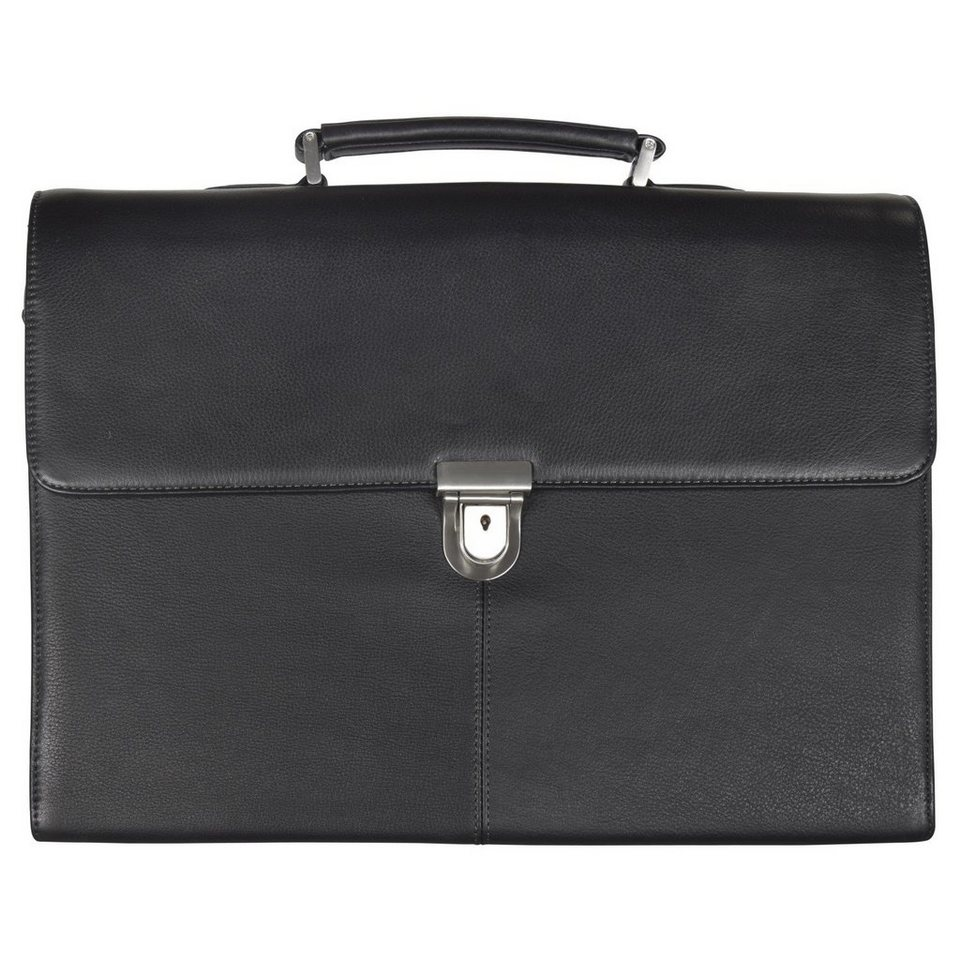 d & n d&n Business Line Aktentasche Leder 42 cm in schwarz