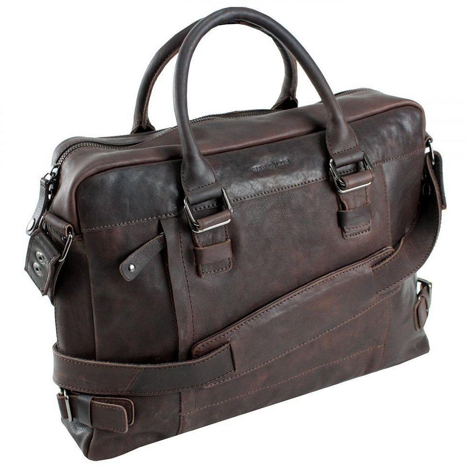 Harold's R.Johnson Businesstasche Leder 40 cm Laptopfach in braun