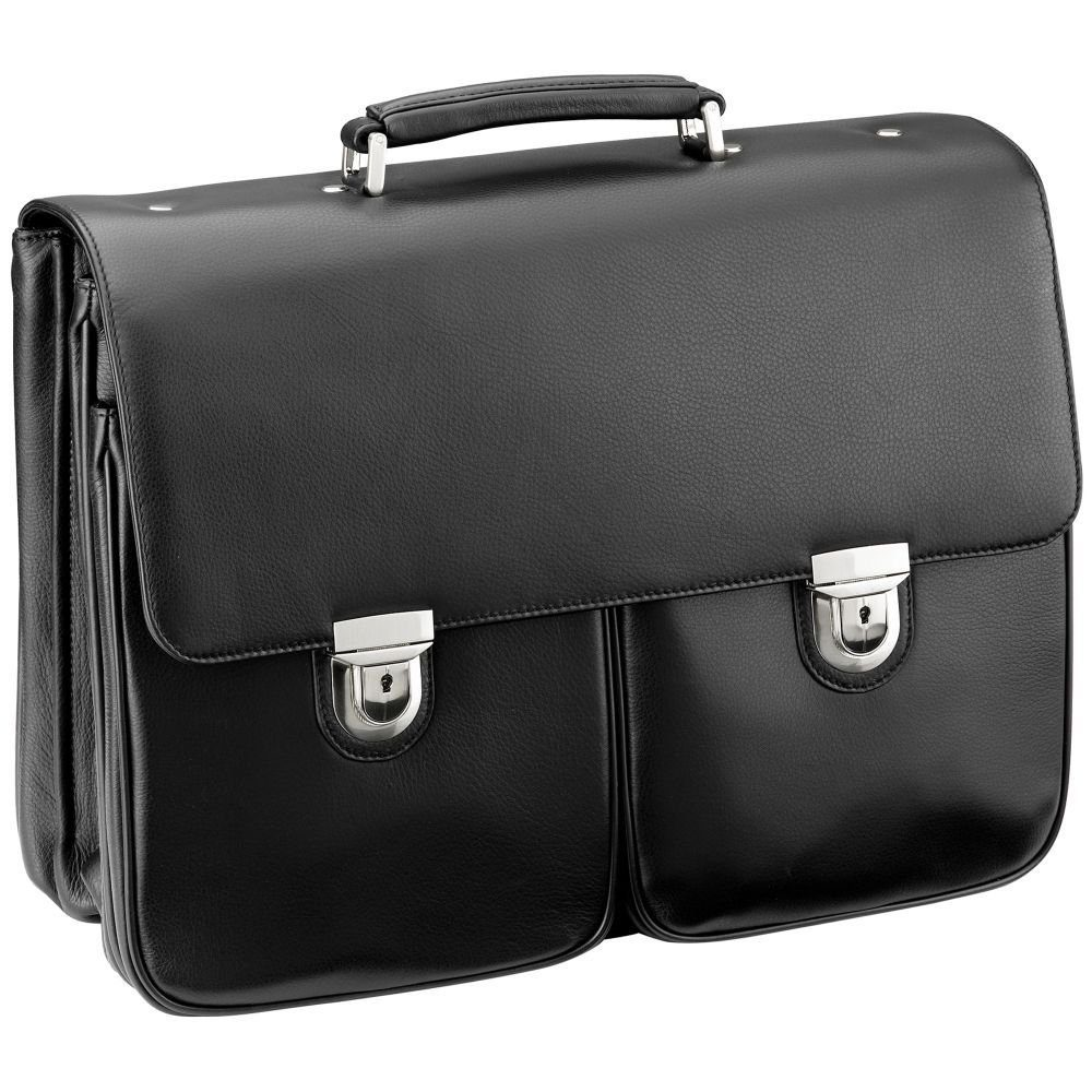 d & n Business Line Aktentasche Leder 43 cm Laptopfach