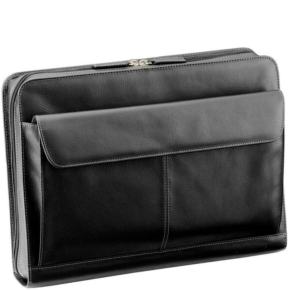 d & n d&n Easy Business Schreibmappe Leder 36 cm in schwarz