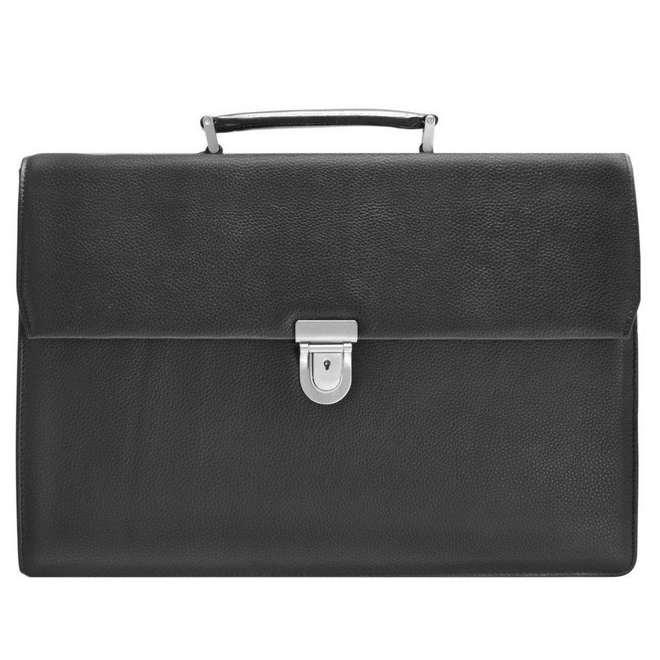 d & n Business Line Aktentasche Laptopfach in schwarz