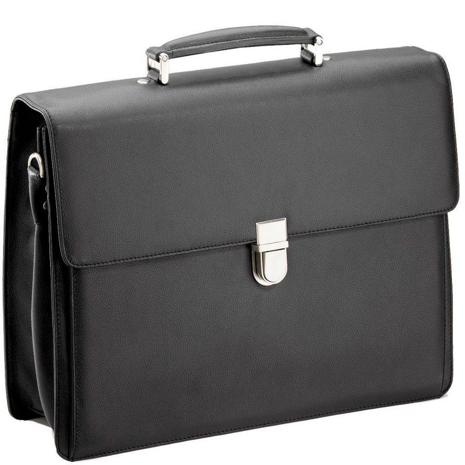 d & n Business Line Aktentasche Leder 40 cm in schwarz