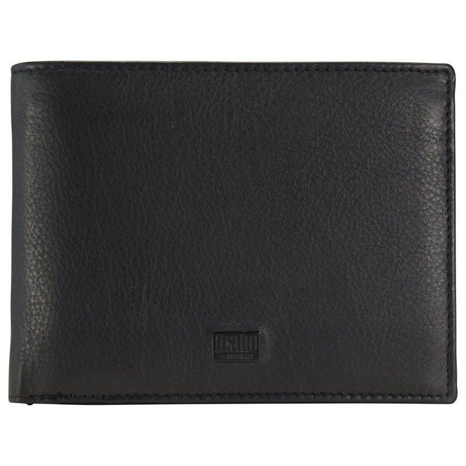 mano mano Tabula Geldbörse Leder 12,5 cm in schwarz