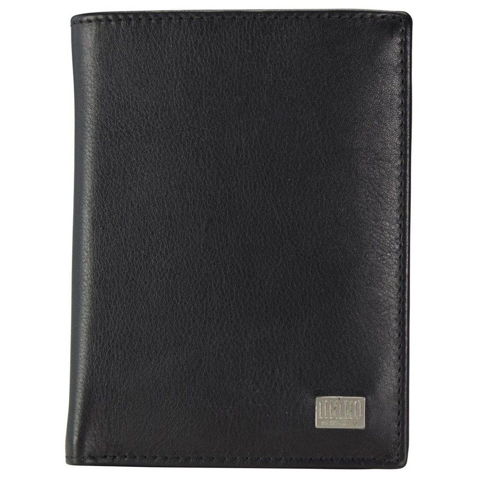 MANO Linea Geldbörse Leder 9,5 cm in schwarz