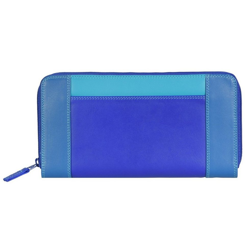 Mywalit mywalit Zip Around Purse Geldbörse Leder 19 cm in seascape