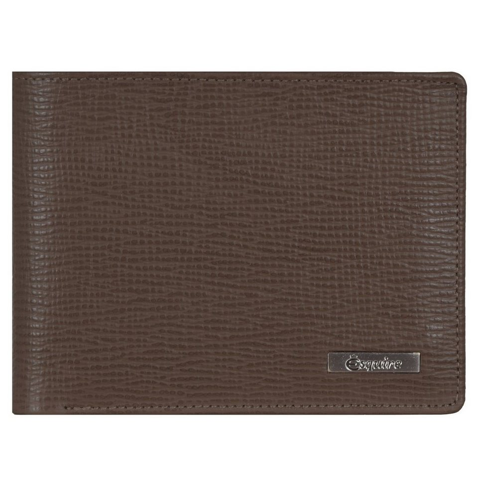 Esquire Esquire Boston Geldbörse Leder 12 cm in braun