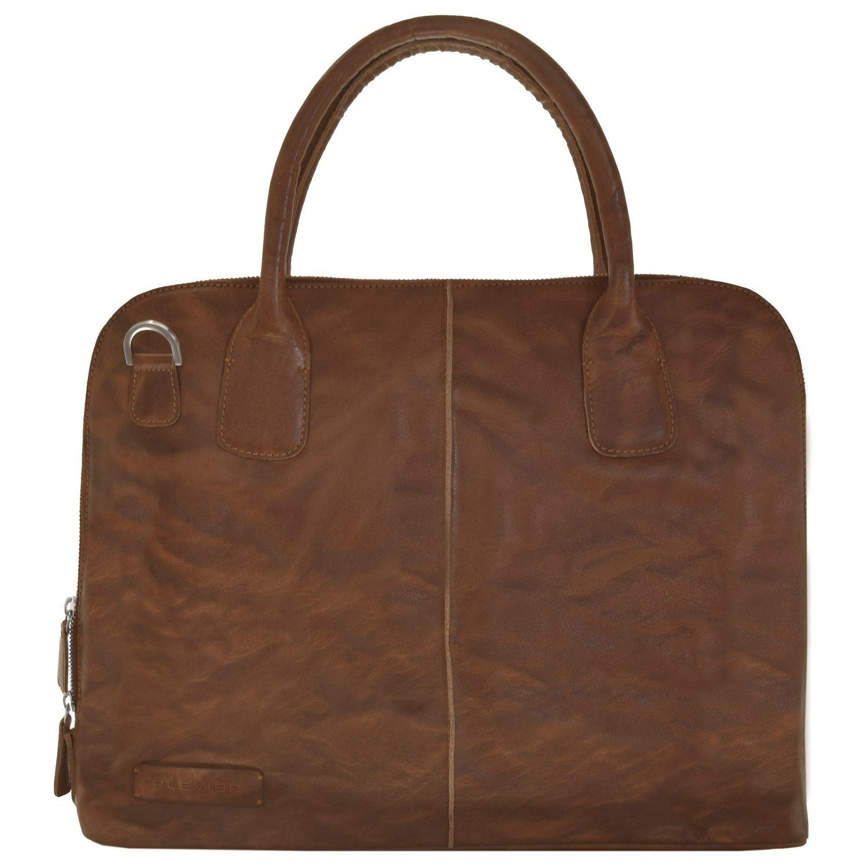 Plevier 400er Serie Handtasche Leder 46 cm Laptopfach