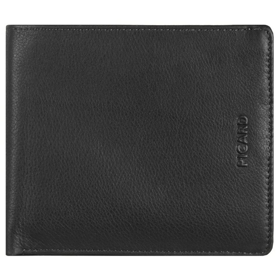 Picard Brooklyn Geldbörse Leder 11,5 cm in schwarz