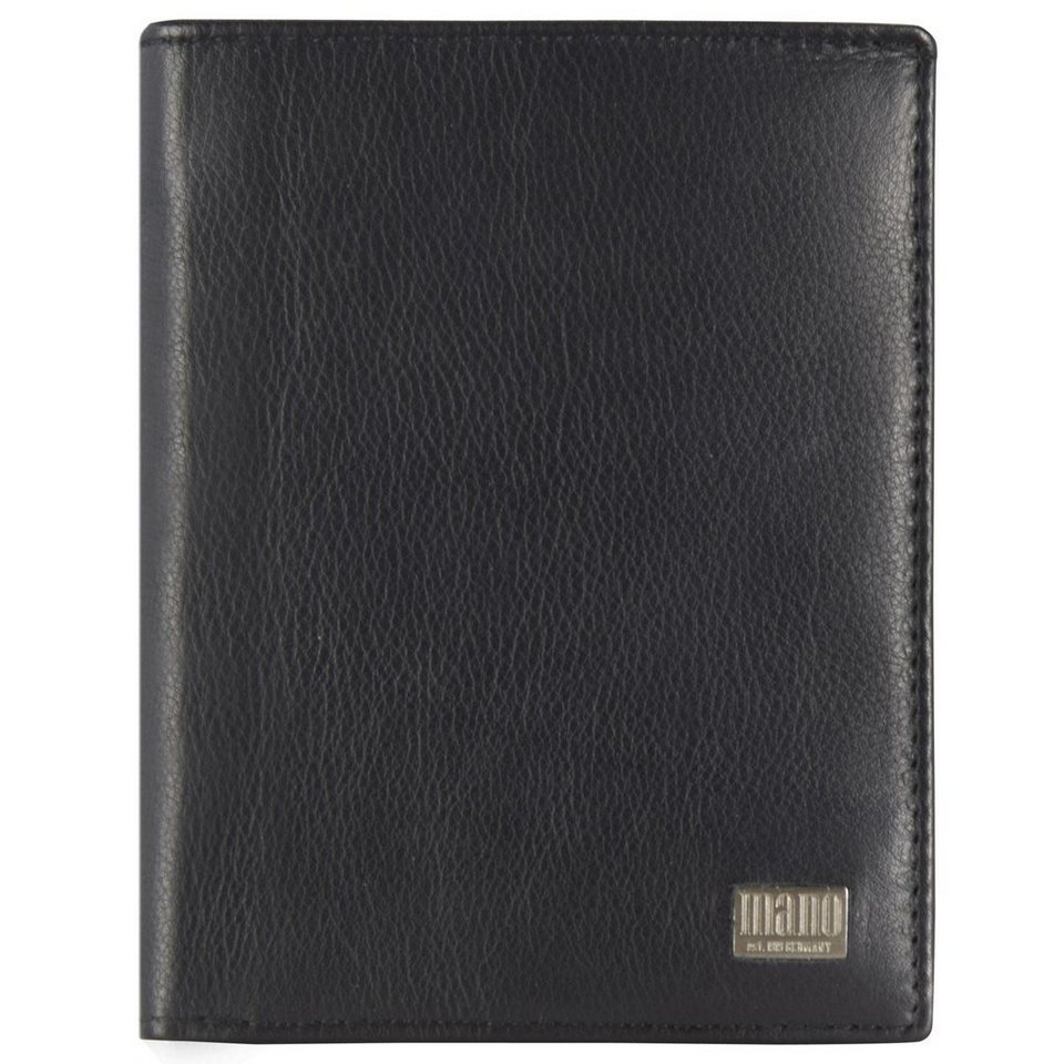 MANO mano Linea Geldbörse Leder 10 cm in schwarz