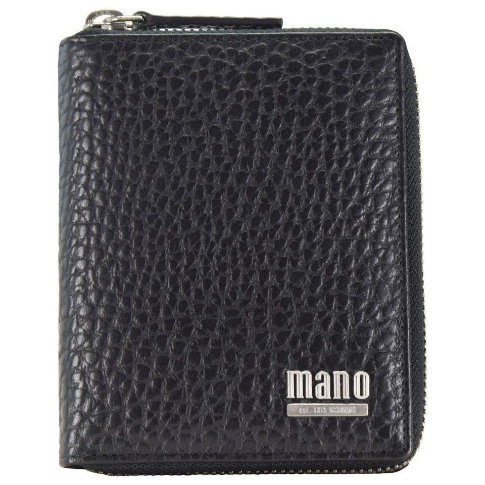 MANO Gaudio Geldbörse Leder 10,5 cm in schwarz