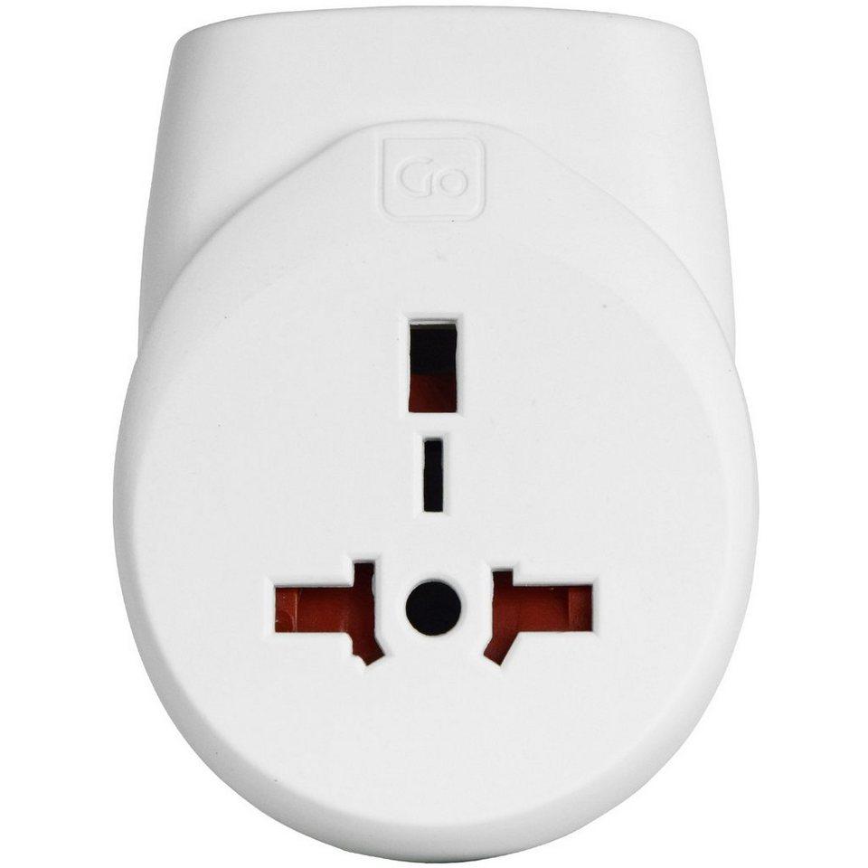 Go Travel Elektro + Elektronikgeräte Doppel-USB Adapter UK in weiß