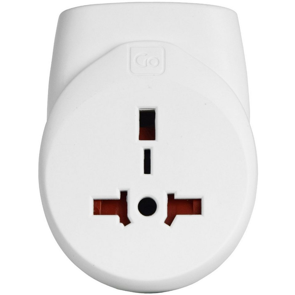 Go Travel Go Travel Elektro + Elektronikgeräte Doppel-USB Adapter UK in weiß