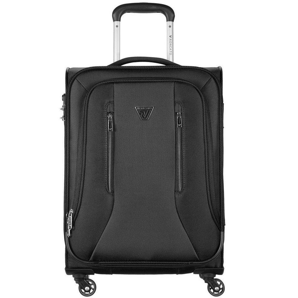 RONCATO City 4-Rollen Kabinentrolley 55 cm in nero