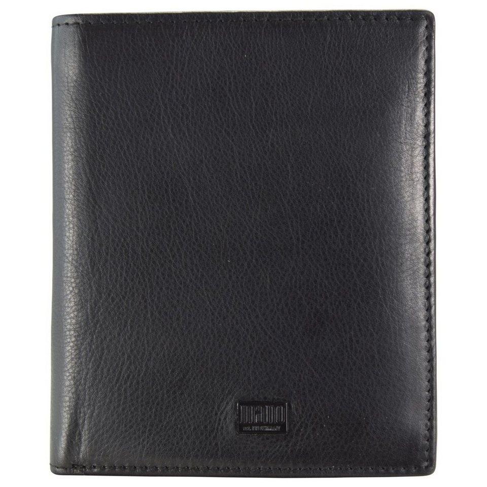 MANO mano Tabula Geldbörse Leder 10 cm in schwarz