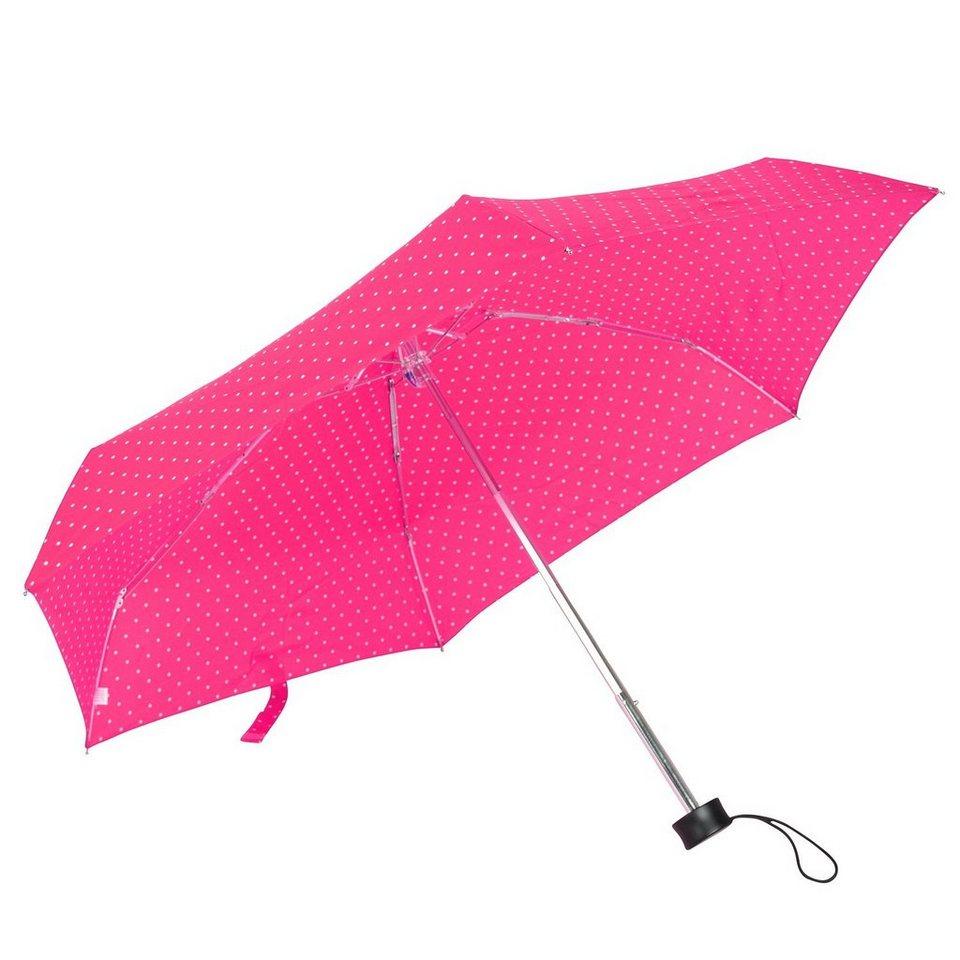 HAPPY RAIN Flash Ultra Mini AC Taschenschirm 15 cm in dots pink