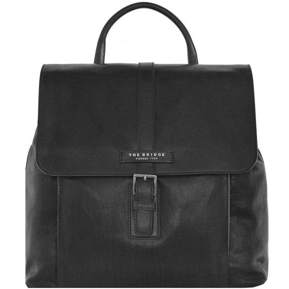 The Bridge The Bridge Marco Polo City-Rucksack Leder 33 cm in nero
