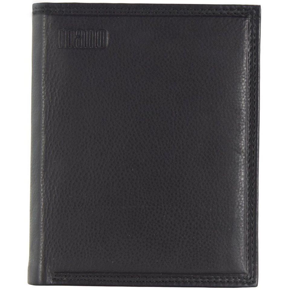 MANO Mollis Geldbörse Leder 9,5 cm in schwarz