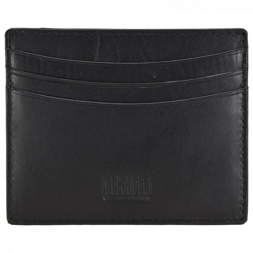 mano mano Planus Kreditkartenetui Leder 10 cm in schwarz