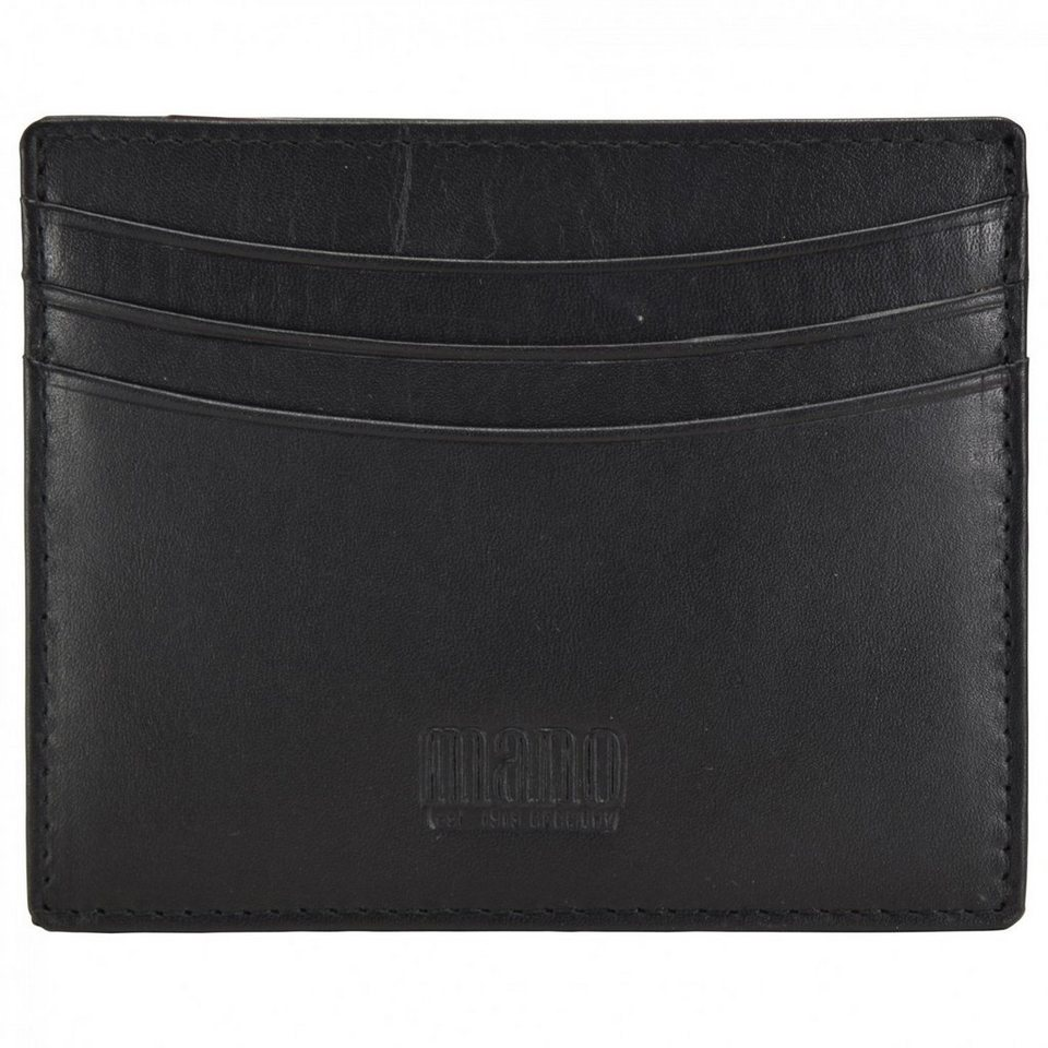 MANO Planus Kreditkartenetui Leder 10 cm in schwarz