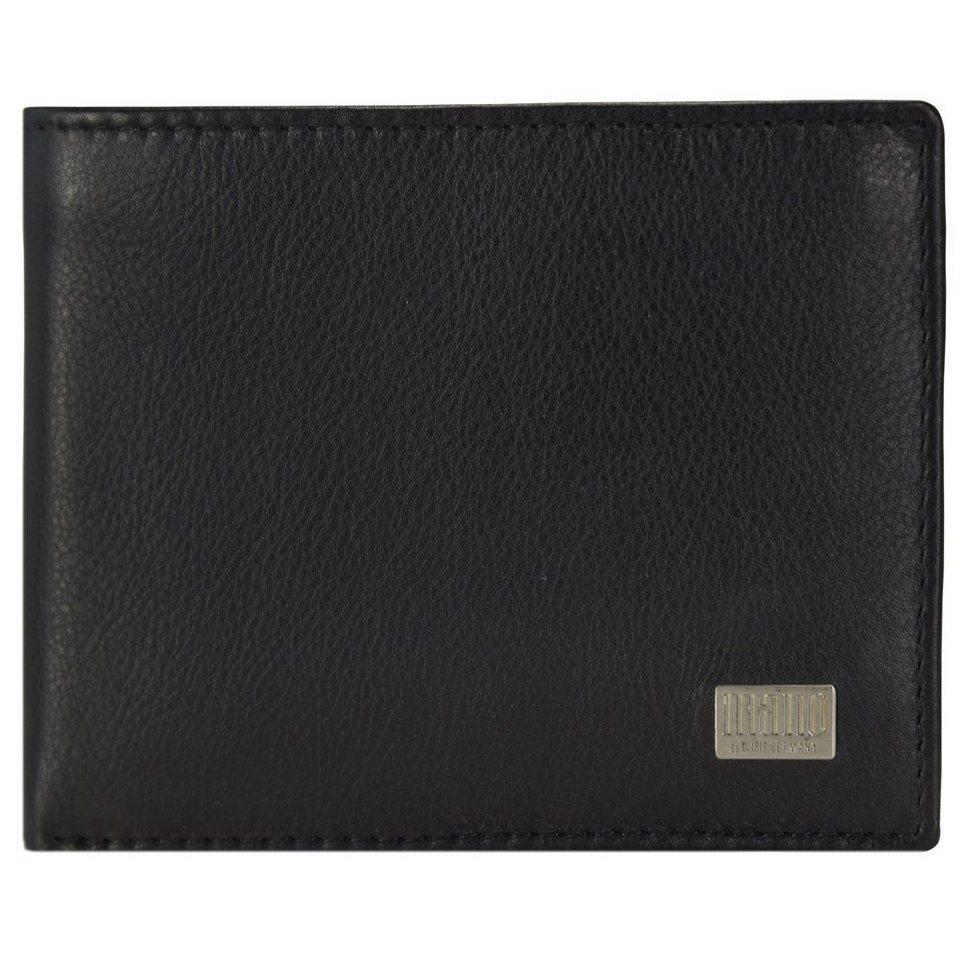 MANO Linea Geldbörse Leder 10,5 cm in schwarz