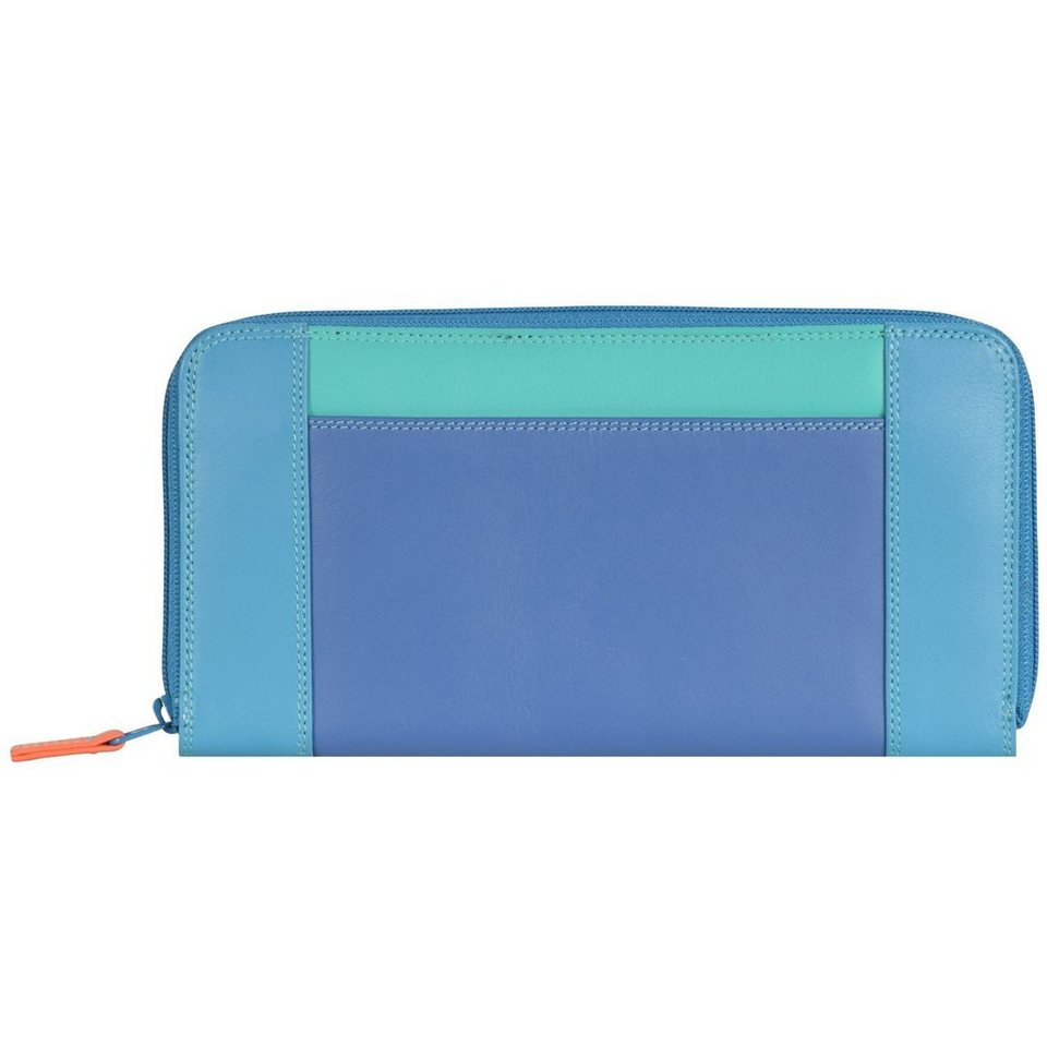 Mywalit Zip Around Purse Geldbörse Leder 19 cm in aqua