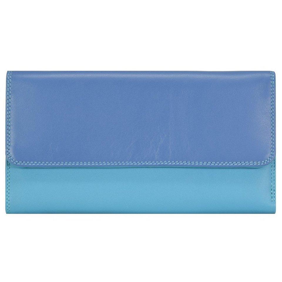 Mywalit Tri-fold Zip Wallet Geldbörse Leder 17 cm in aqua