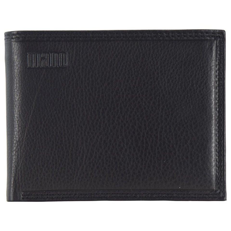 MANO Mollis Geldbörse Leder 11,5 cm in schwarz