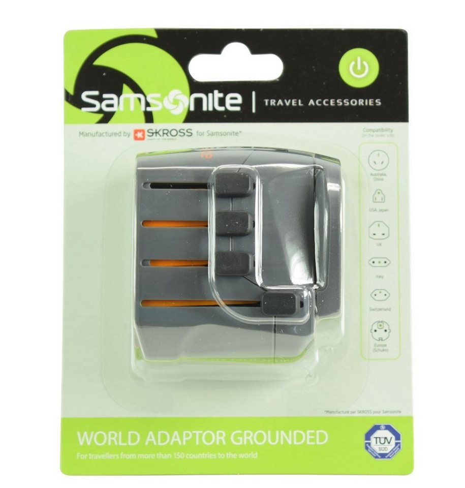 Samsonite Travel Accessories World Adapter in graphite