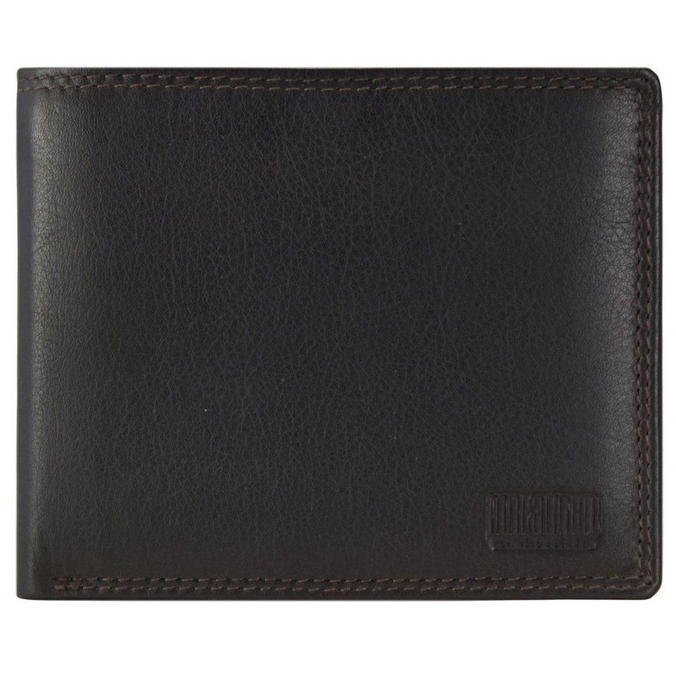 MANO Sutura Geldbörse Leder 12 cm in dunkelbraun