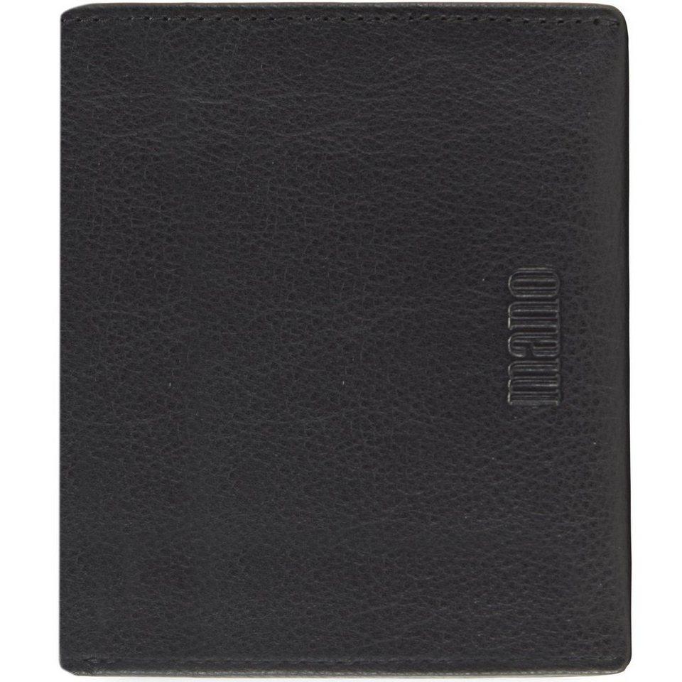 MANO mano Medio Geldbörse Leder 9,5 cm in schwarz