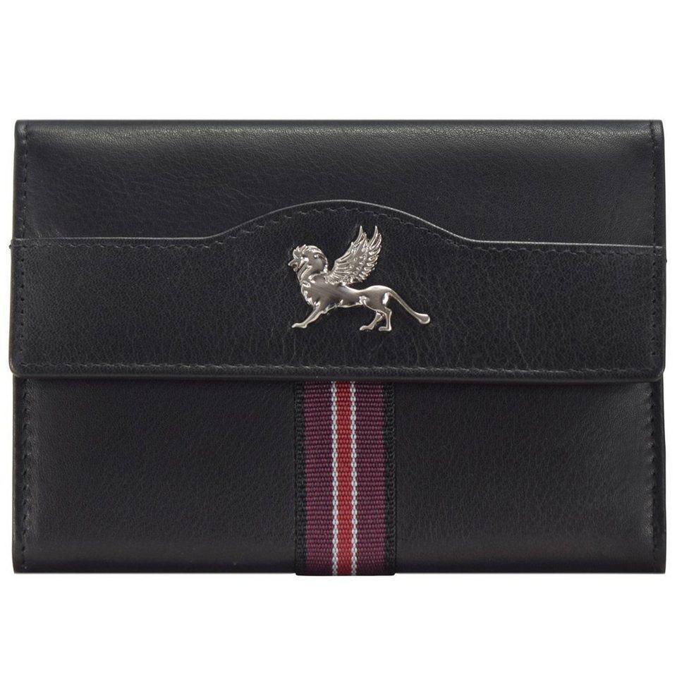 MANO Signum Lady Geldbörse Leder 13 cm in schwarz