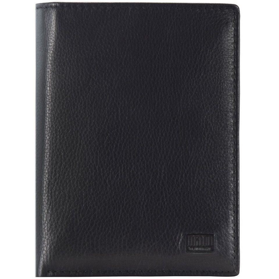 MANO mano Certo Geldbörse Leder 9,5 cm in schwarz